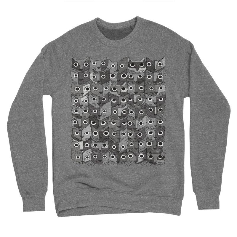 Cats (fortyfivepack bw version) Women's Sponge Fleece Sweatshirt by bulo