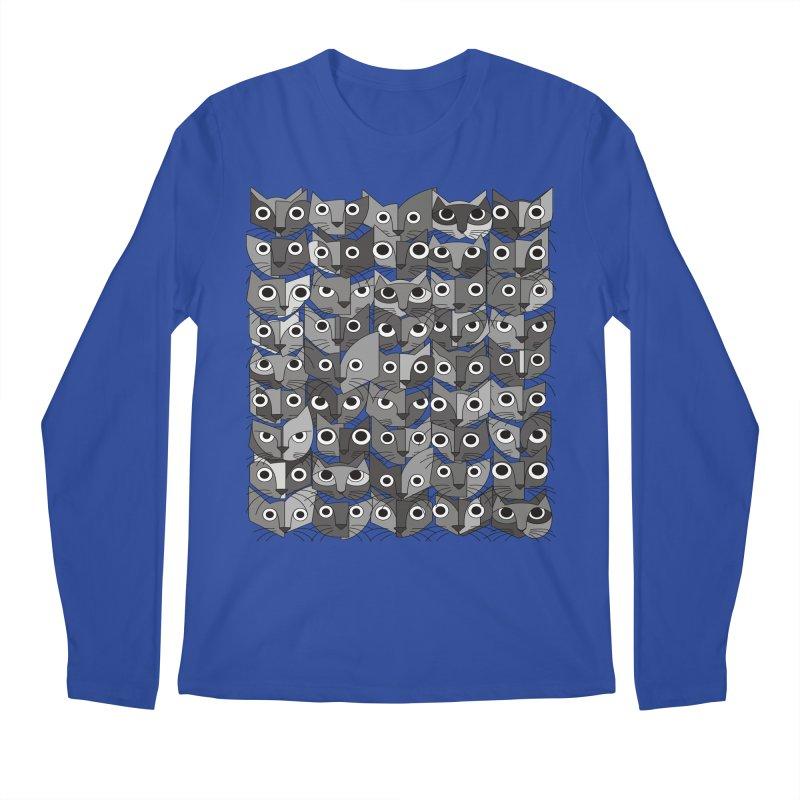 Cats (fortyfivepack bw version) Men's Regular Longsleeve T-Shirt by bulo