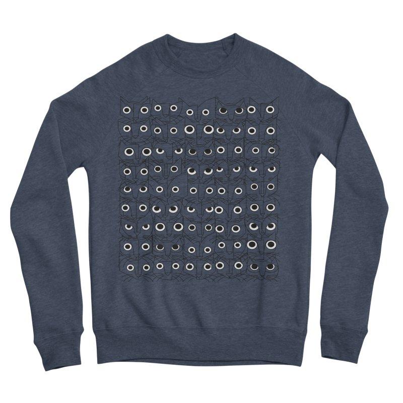 Cats (fortyfivepack bw outline version) Men's Sponge Fleece Sweatshirt by bulo