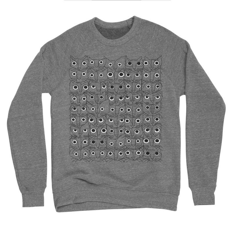 Cats (fortyfivepack bw outline version) Women's Sponge Fleece Sweatshirt by bulo