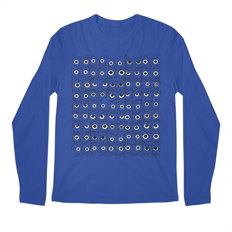 Cats (fortyfivepack bw outline version) Men's Regular Longsleeve T-Shirt by bulo