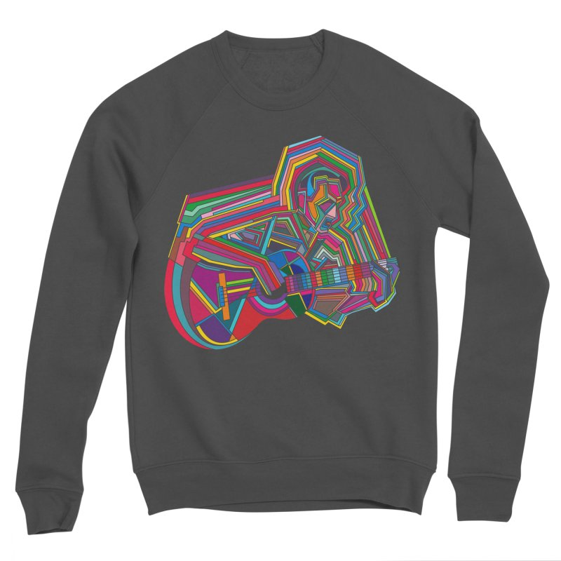Guitarist Men's Sponge Fleece Sweatshirt by bulo
