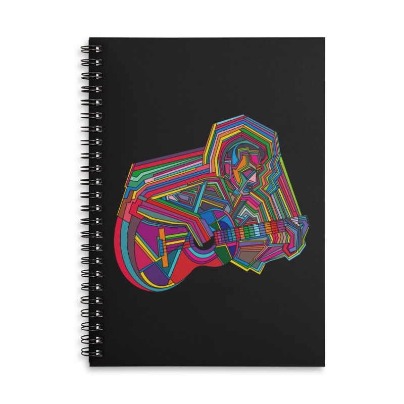 Guitarist Accessories Lined Spiral Notebook by bulo