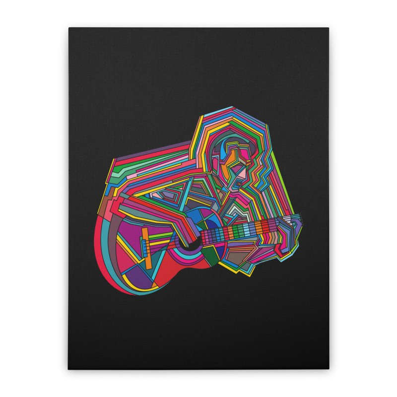 Guitarist Home Stretched Canvas by bulo