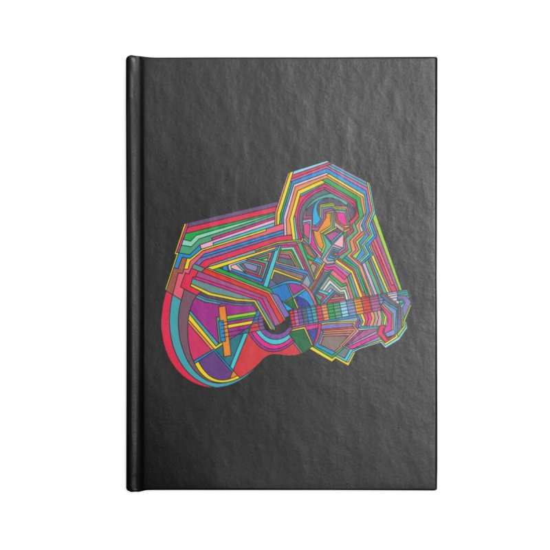 Guitarist Accessories Blank Journal Notebook by bulo