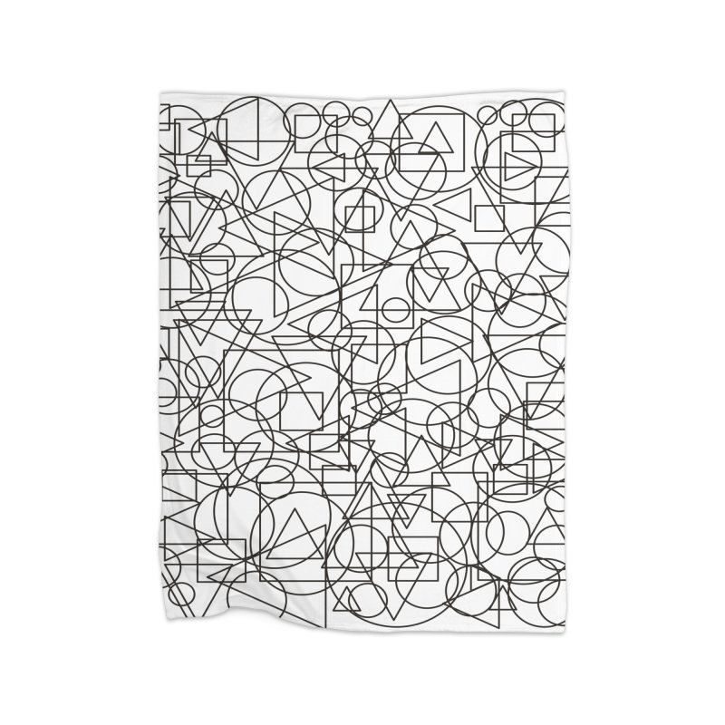 Simple Chaos Home Fleece Blanket Blanket by bulo