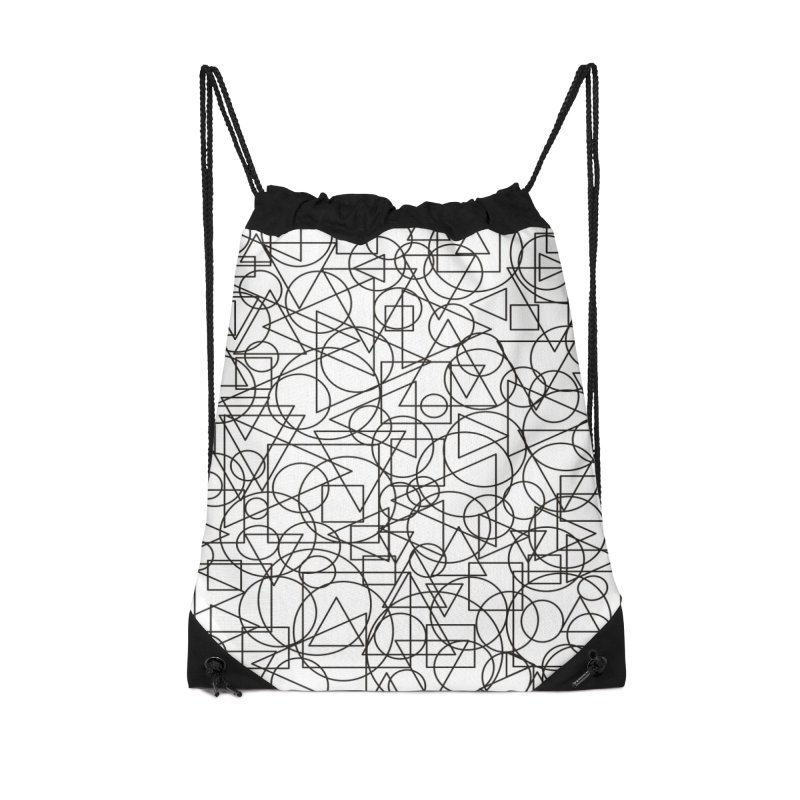 Simple Chaos Accessories Drawstring Bag Bag by bulo