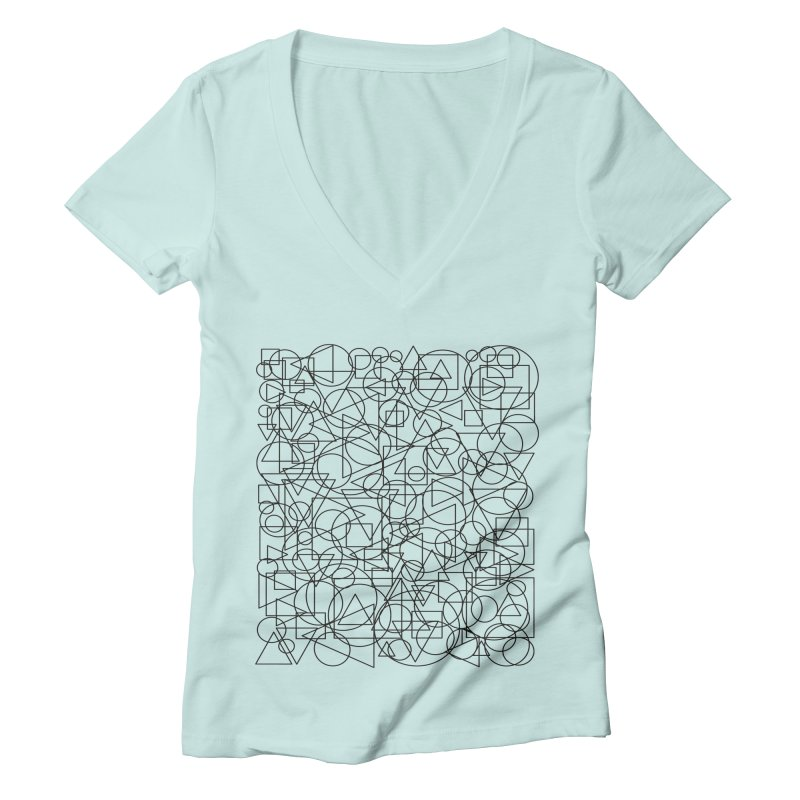 Simple Chaos Women's Deep V-Neck V-Neck by bulo