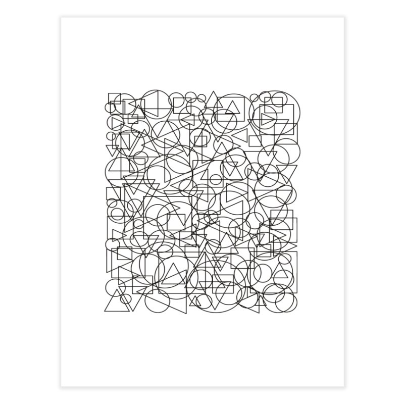 Simple Chaos Home Fine Art Print by bulo