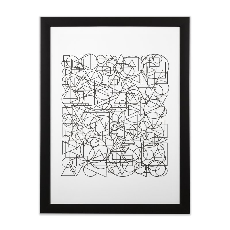 Simple Chaos Home Framed Fine Art Print by bulo