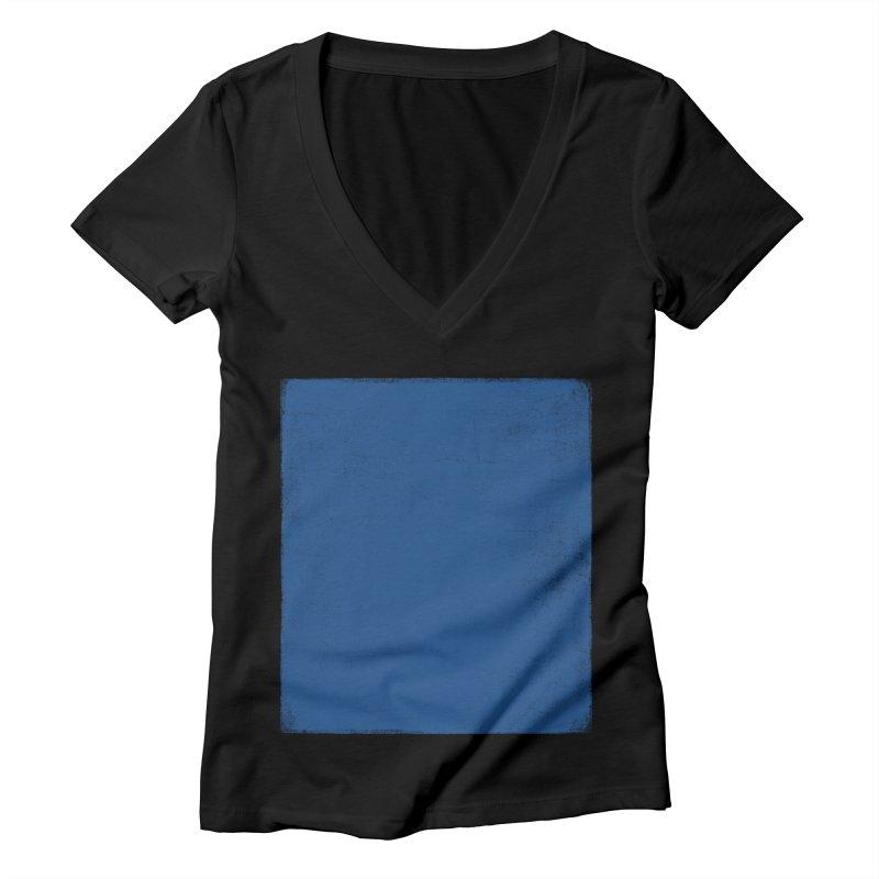 Pure Blue Women's Deep V-Neck V-Neck by bulo
