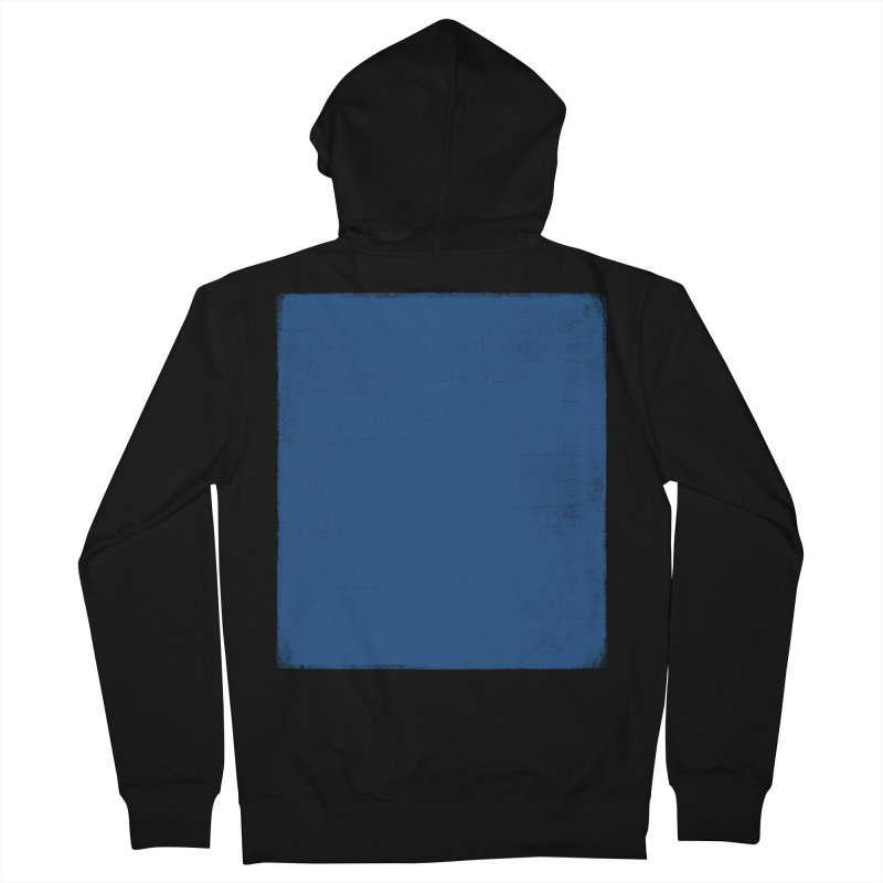 Pure Blue Men's French Terry Zip-Up Hoody by bulo