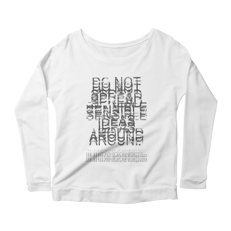 Extreme Fake Meaning Anxiety Women's Scoop Neck Longsleeve T-Shirt by bulo