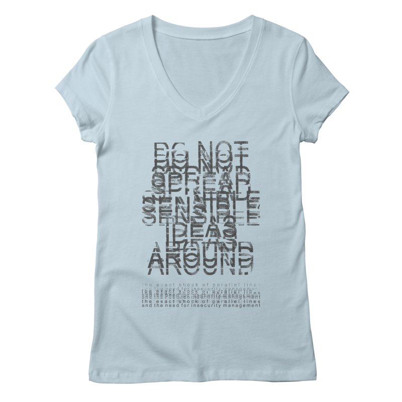 Extreme Fake Meaning Anxiety Women's Regular V-Neck by bulo