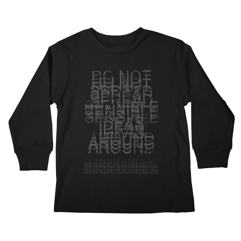Extreme Fake Meaning Anxiety Kids Longsleeve T-Shirt by bulo