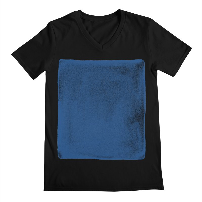 Pure Blue Men's Regular V-Neck by bulo