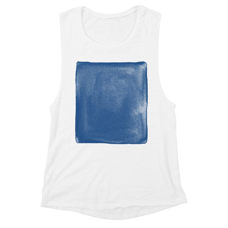 Pure Blue Women's Muscle Tank by bulo