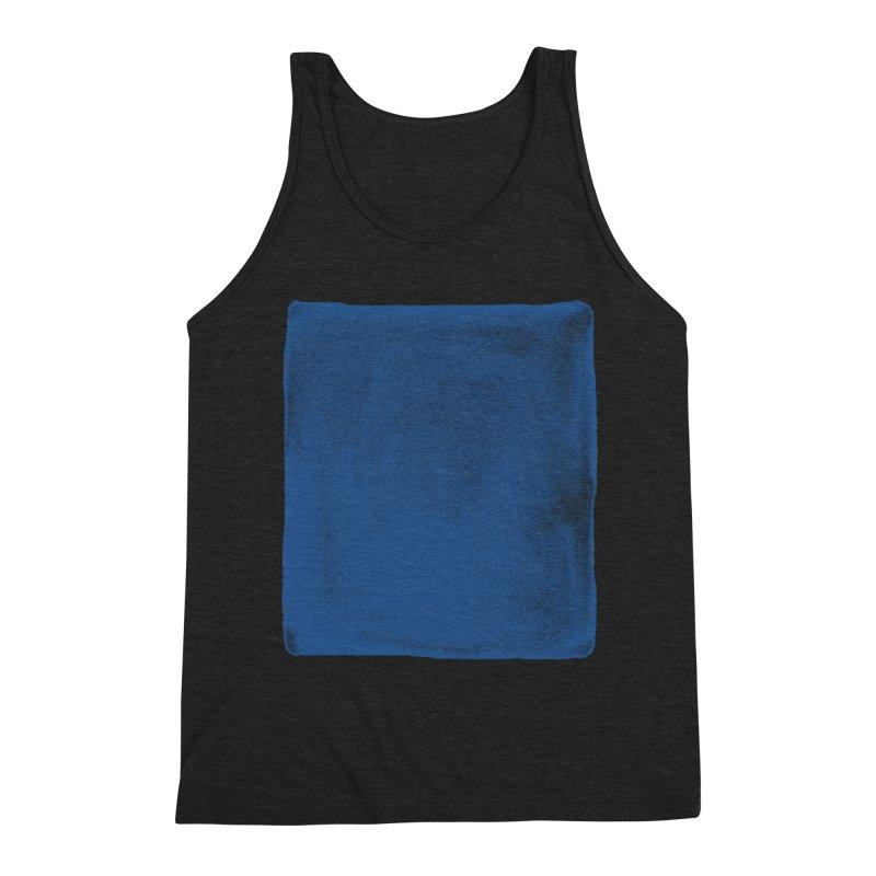 Pure Blue Men's Triblend Tank by bulo