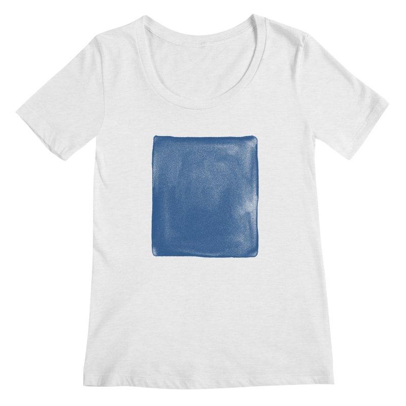 Pure Blue Women's Regular Scoop Neck by bulo
