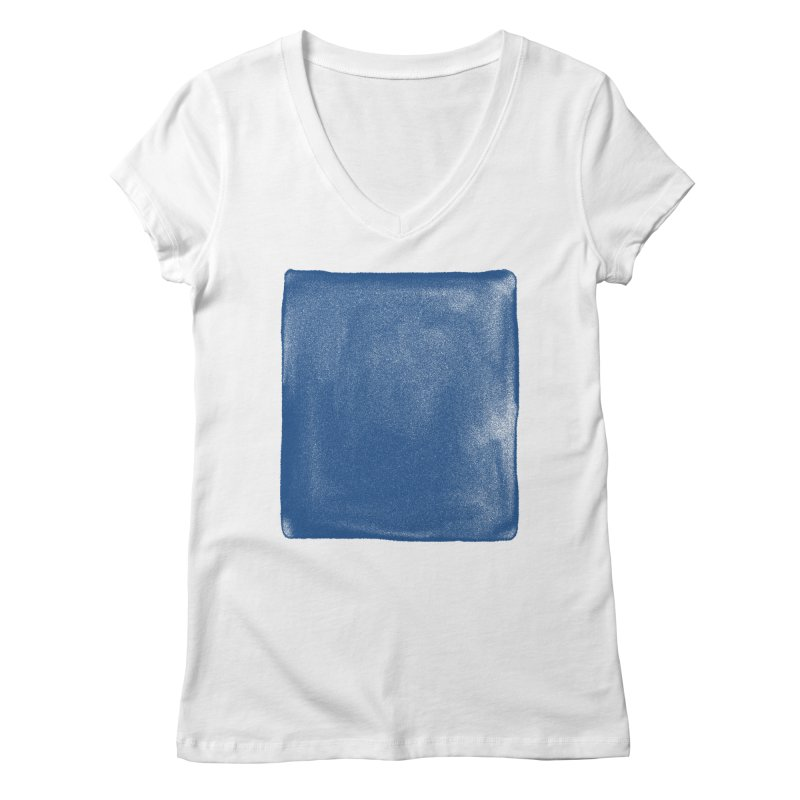 Pure Blue Women's Regular V-Neck by bulo
