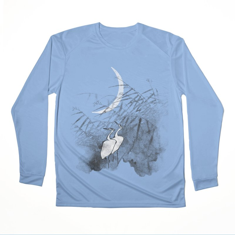 Romance In The Moonlight Men's Performance Longsleeve T-Shirt by bulo