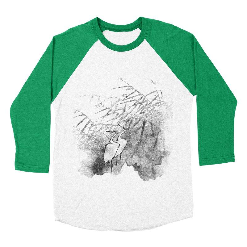 Romance In The Moonlight Men's Baseball Triblend Longsleeve T-Shirt by bulo