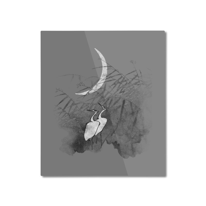 Romance In The Moonlight Home Mounted Aluminum Print by bulo