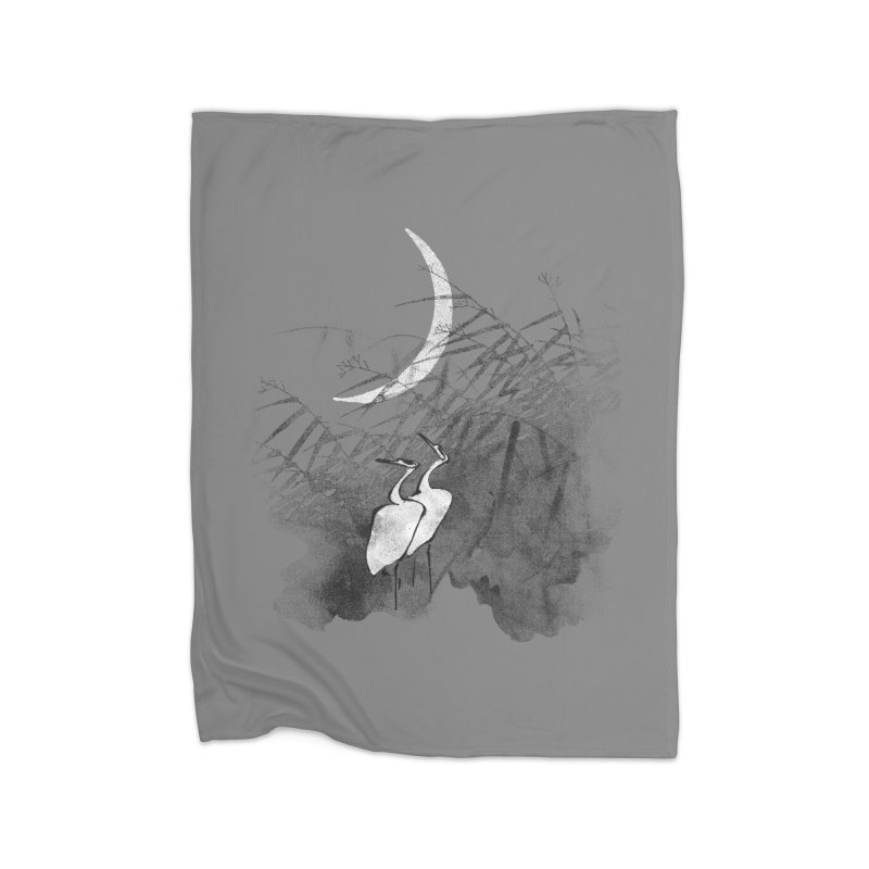 Romance In The Moonlight Home Fleece Blanket Blanket by bulo