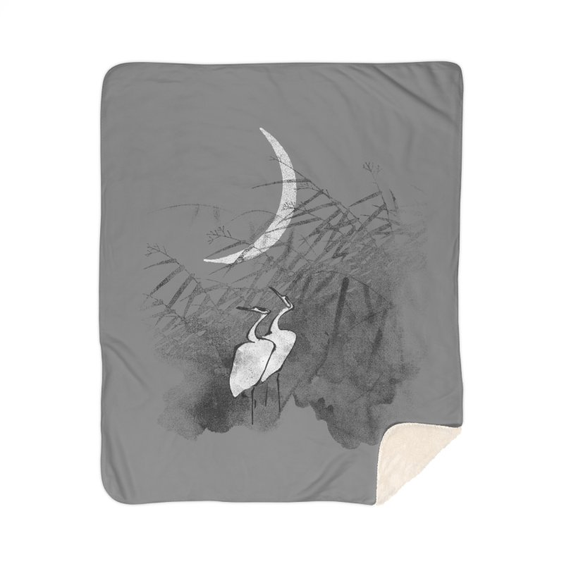 Romance In The Moonlight Home Sherpa Blanket Blanket by bulo