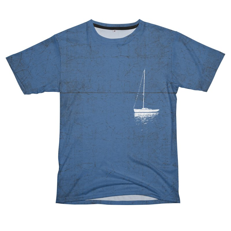 Pure Blue Men's French Terry T-Shirt Cut & Sew by bulo