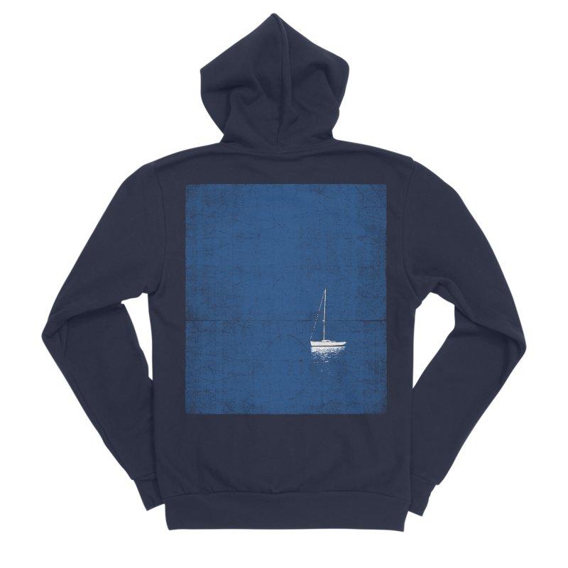 Pure Blue Men's Sponge Fleece Zip-Up Hoody by bulo