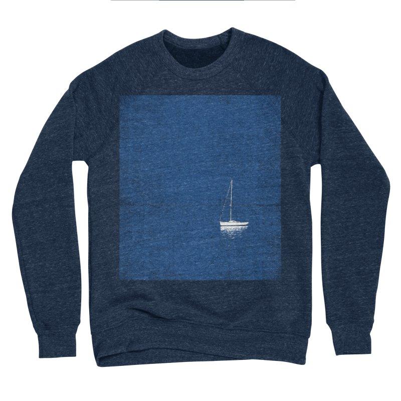 Pure Blue Men's Sponge Fleece Sweatshirt by bulo