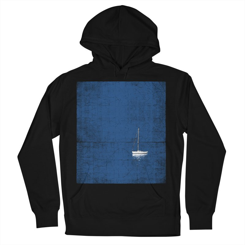 Pure Blue Men's French Terry Pullover Hoody by bulo