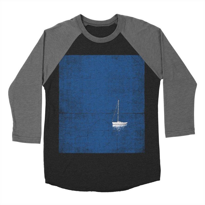 Pure Blue Men's Baseball Triblend Longsleeve T-Shirt by bulo