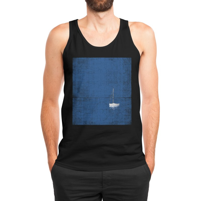 Pure Blue Men's Tank by bulo
