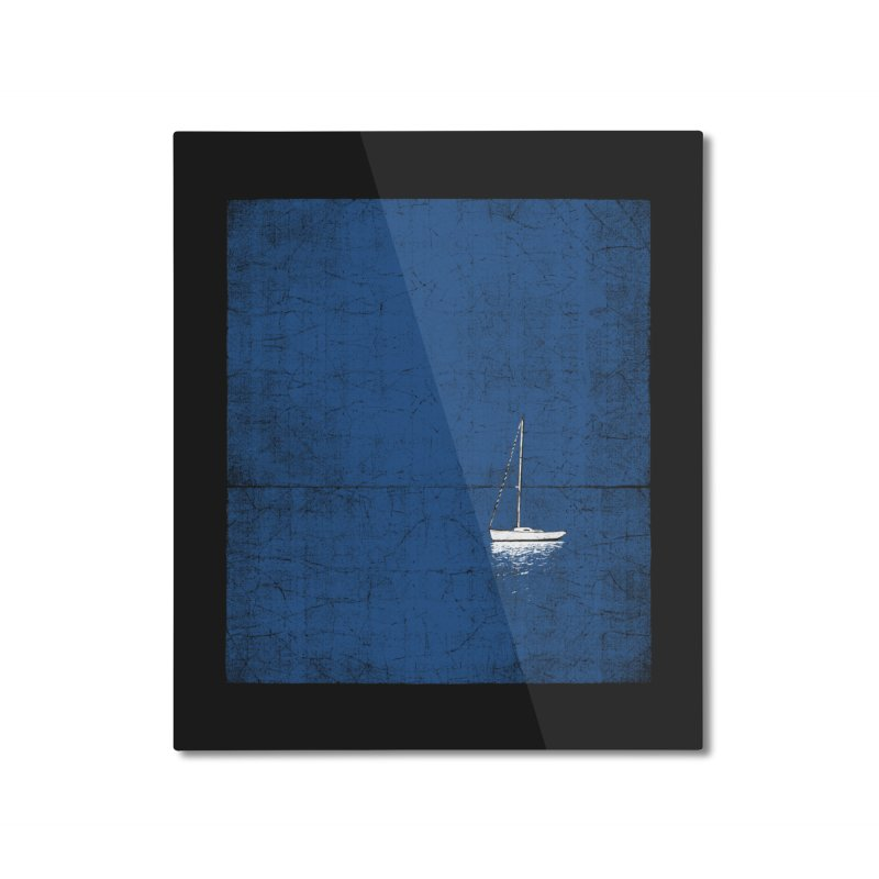Pure Blue Home Mounted Aluminum Print by bulo