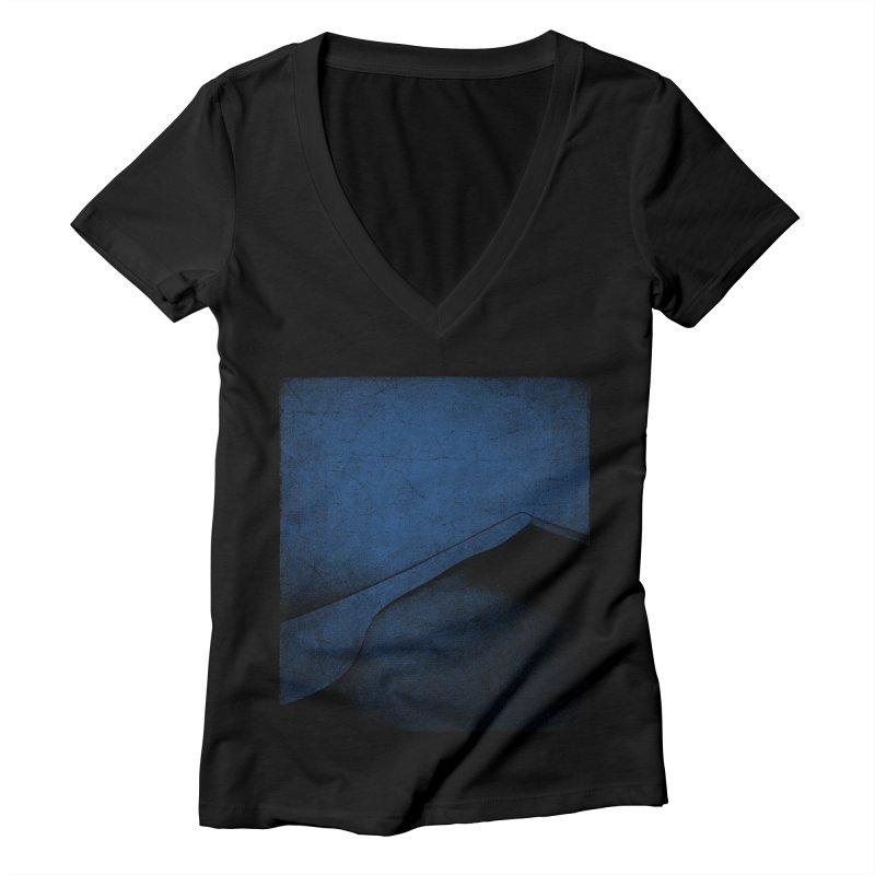 Dune (Twilight Blue Version) Women's Deep V-Neck V-Neck by bulo