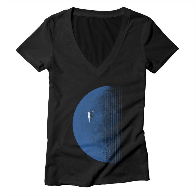 Pure Blue Moon Phantasy Women's Deep V-Neck V-Neck by bulo