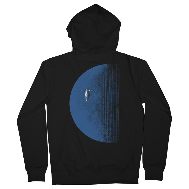 Pure Blue Moon Phantasy Men's French Terry Zip-Up Hoody by bulo