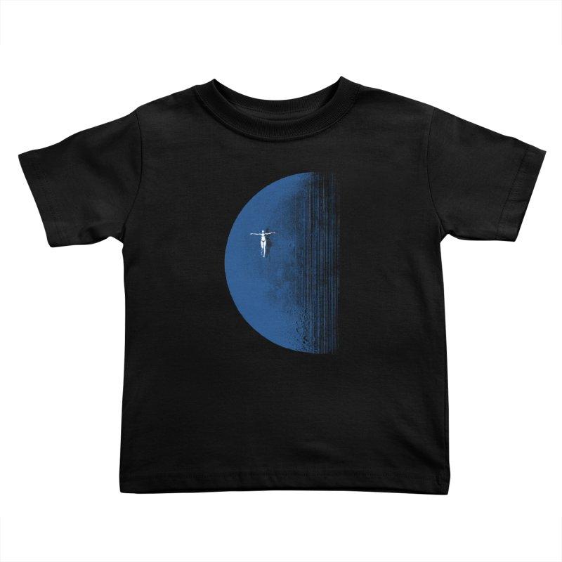 Pure Blue Moon Phantasy Kids Toddler T-Shirt by bulo