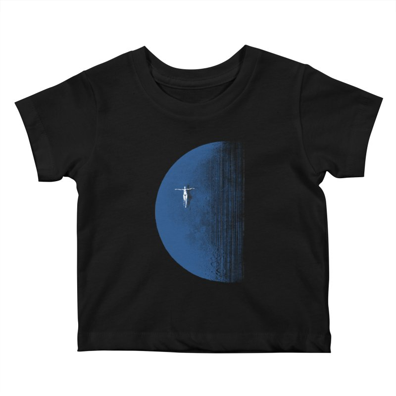 Pure Blue Moon Phantasy Kids Baby T-Shirt by bulo