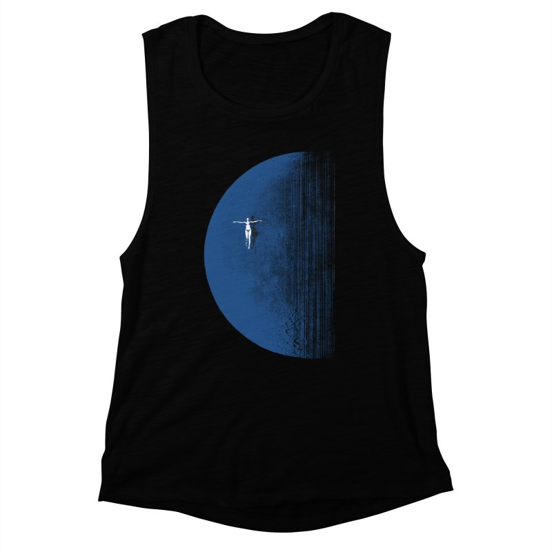 Pure Blue Moon Phantasy Women's Muscle Tank by bulo