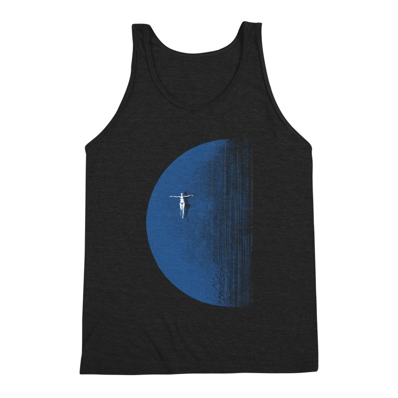 Pure Blue Moon Phantasy Men's Triblend Tank by bulo
