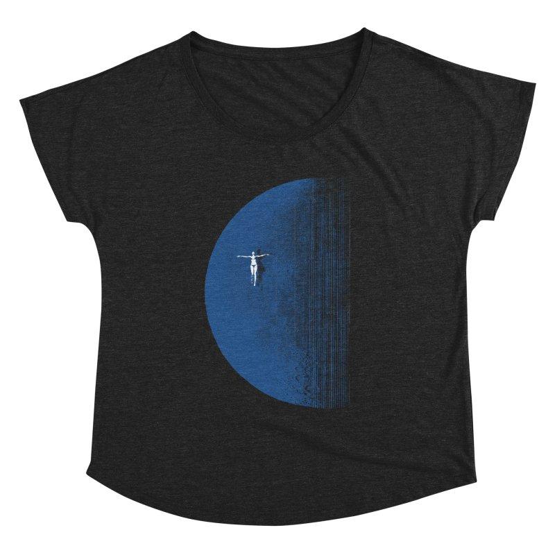 Pure Blue Moon Phantasy Women's Dolman Scoop Neck by bulo