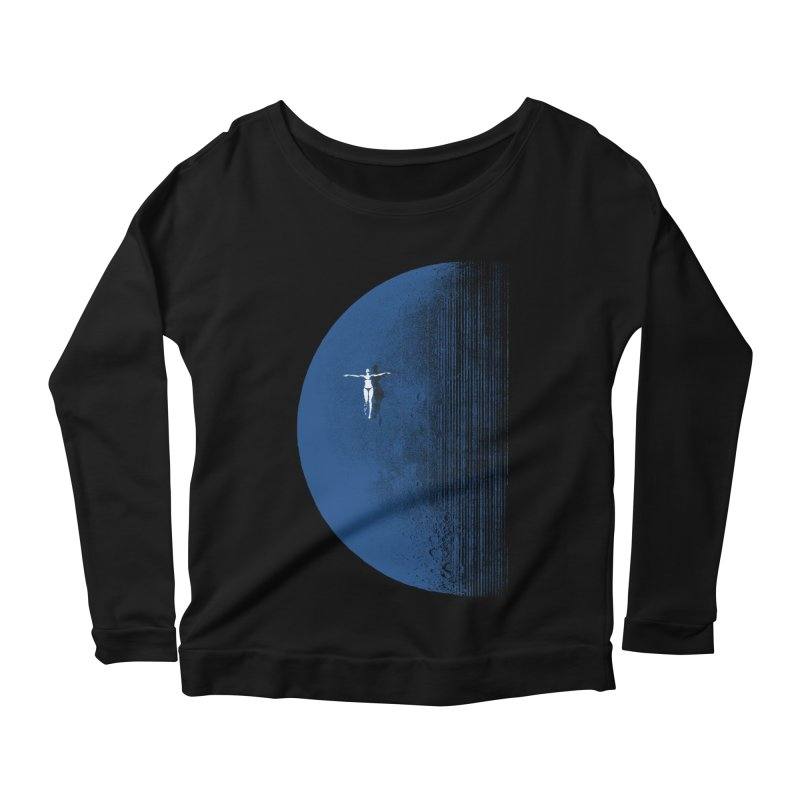 Pure Blue Moon Phantasy Women's Scoop Neck Longsleeve T-Shirt by bulo