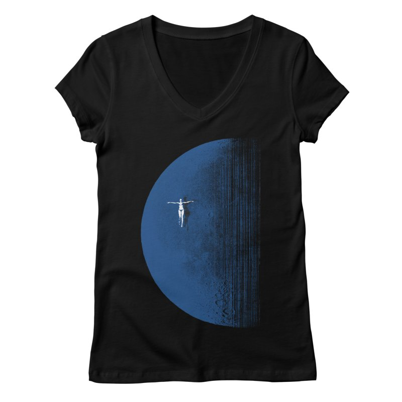 Pure Blue Moon Phantasy Women's Regular V-Neck by bulo