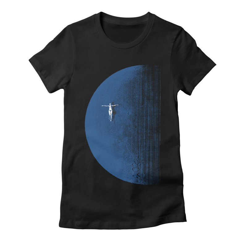 Pure Blue Moon Phantasy Women's Fitted T-Shirt by bulo