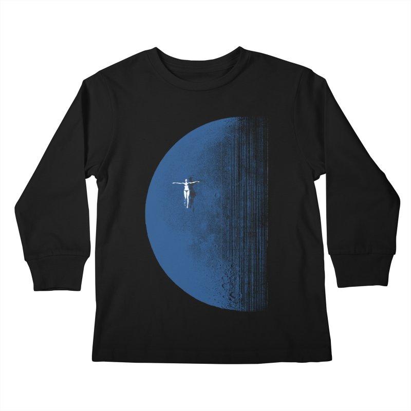 Pure Blue Moon Phantasy Kids Longsleeve T-Shirt by bulo