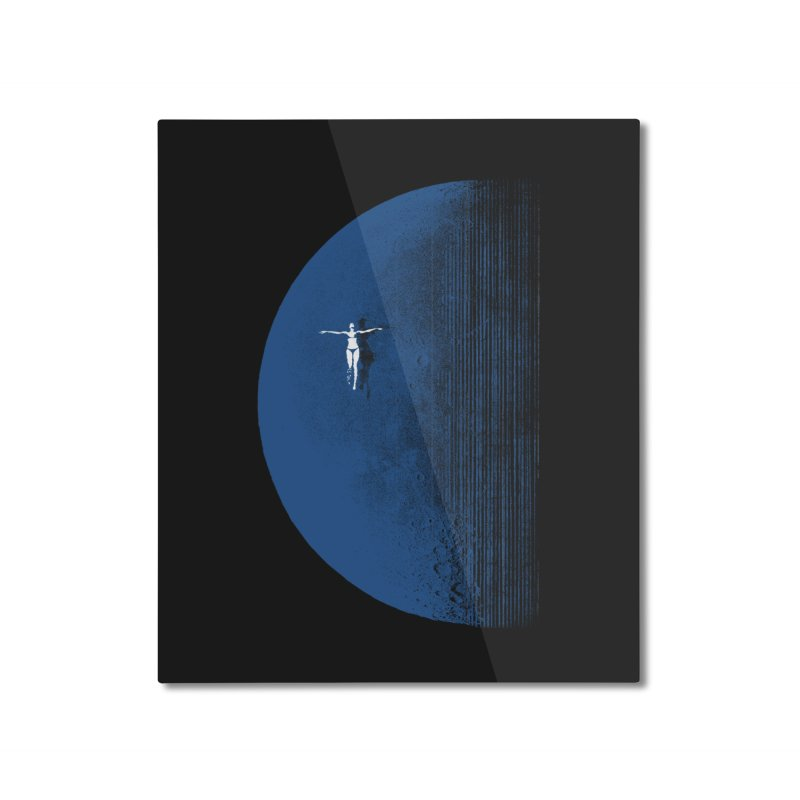 Pure Blue Moon Phantasy Home Mounted Aluminum Print by bulo