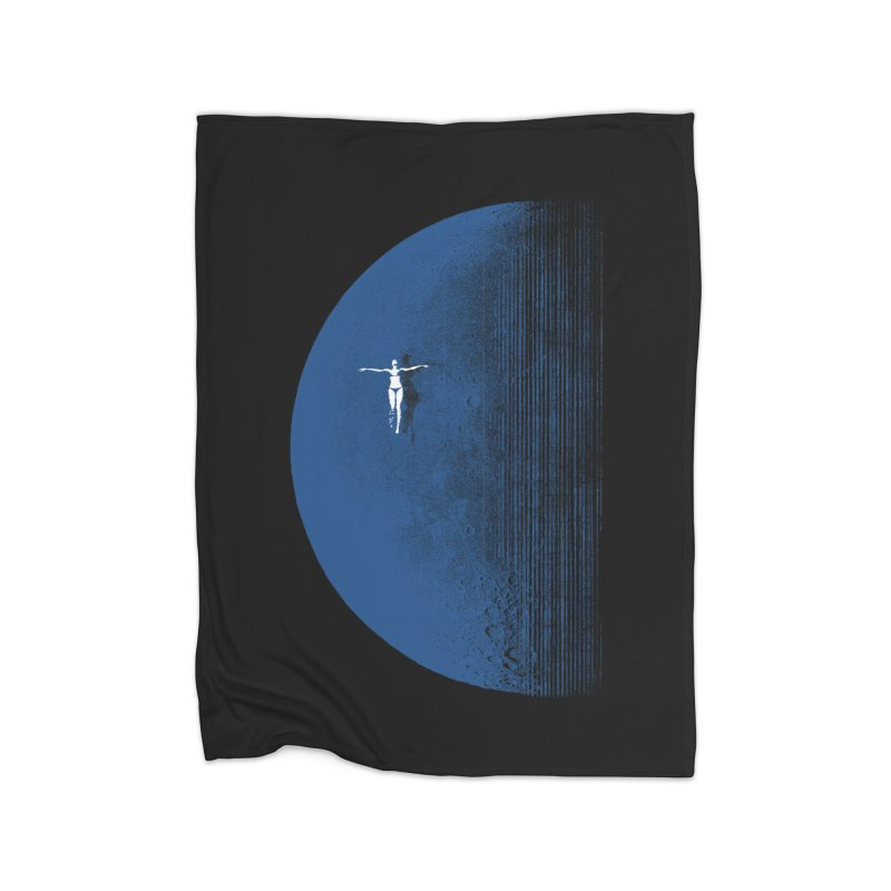 Pure Blue Moon Phantasy Home Fleece Blanket Blanket by bulo